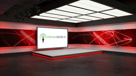Live Television Virtual Tv Studio Set Background