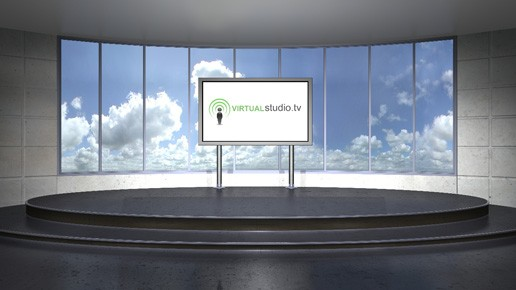 Panoramic Green Screen Virtual Studio Set & Backgrounds