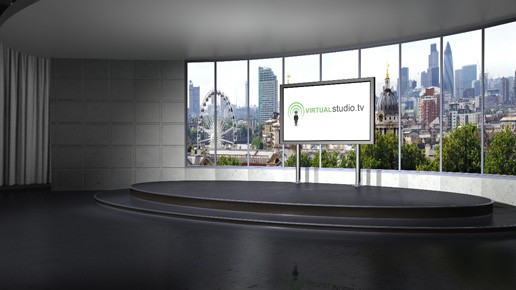Panoramic Green Screen Virtual Studio Set Amp Backgrounds